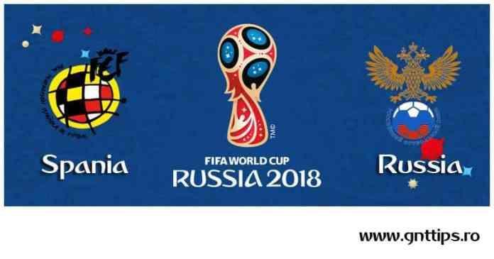 Ponturi fotbal - Spania - Rusia - Campiontul Mondial - Optimi - 01.07.2018