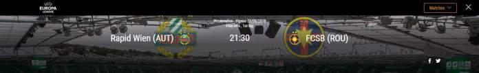 Rapid Viena vs FCSB