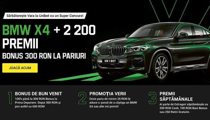 Unibet BMW X4 + alte premii