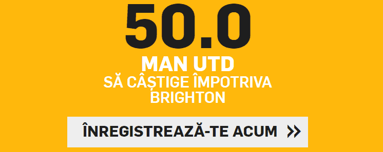 Cota 50.00 pentru Manchester United