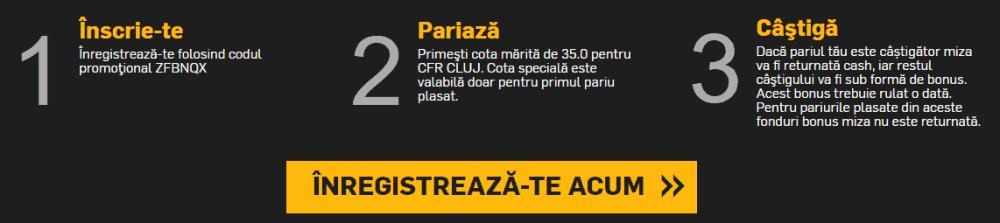 Cota speciala pentru CFR Cluj