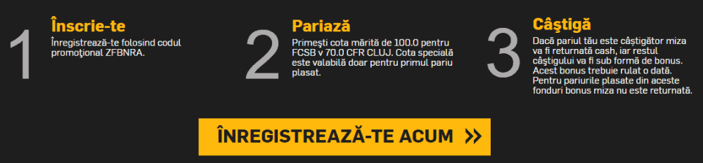 Cote speciale pentru derby-ul FCSB vs CFR Cluj