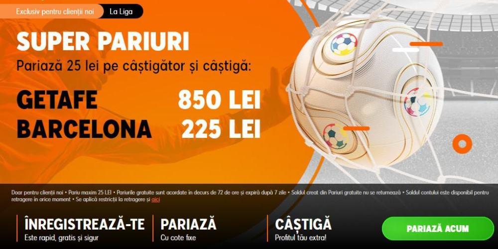 Cote speciale la 888 pentru Getafe vs Barcelona