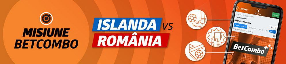 Promoții pariuri Islanda vs. România
