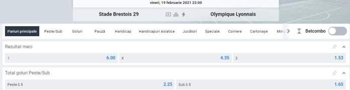 Prezentare meci Brest vs Lyon -Oferta Betano
