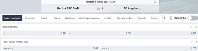 oferta betano - hertha vs augsburg