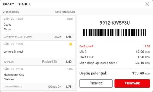 Biletul Superbet 29.05.2021