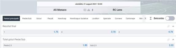 Ponturi pariuri AS Monaco vs Lens
