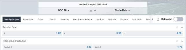 Ponturi pariuri Nice vs Reims