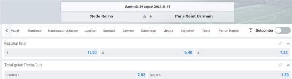 Ponturi pariuri Reims vs PSG