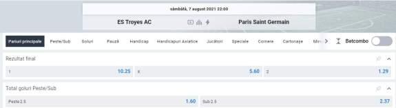 Ponturi pariuri Troyes vs PSG
