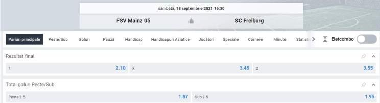 Ponturi pariuri Mainz vs SC Freiburg