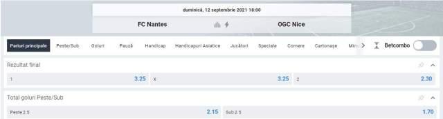 Ponturi pariuri Nantes vs OGC Nice
