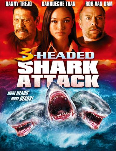 Poster de El ataque del tiburón de tres cabezas