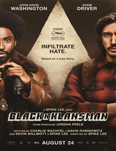 Poster de BlacKkKlansman (El infiltrado del KKKlan)