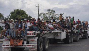 En el 2017 transitaron por México 28 mil 200 migrantes centroamericanos, el 92 por ciento fueron hombres y el 8% mujeres. (Foto Prensa Libre: Hemeroteca PL)