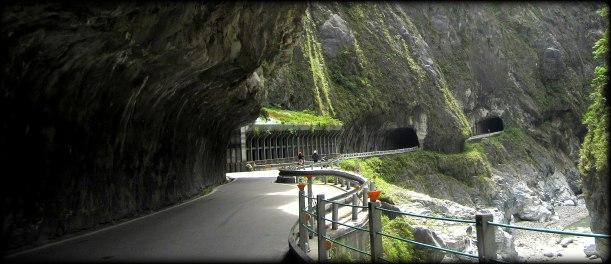 The road through Taroko Gorge