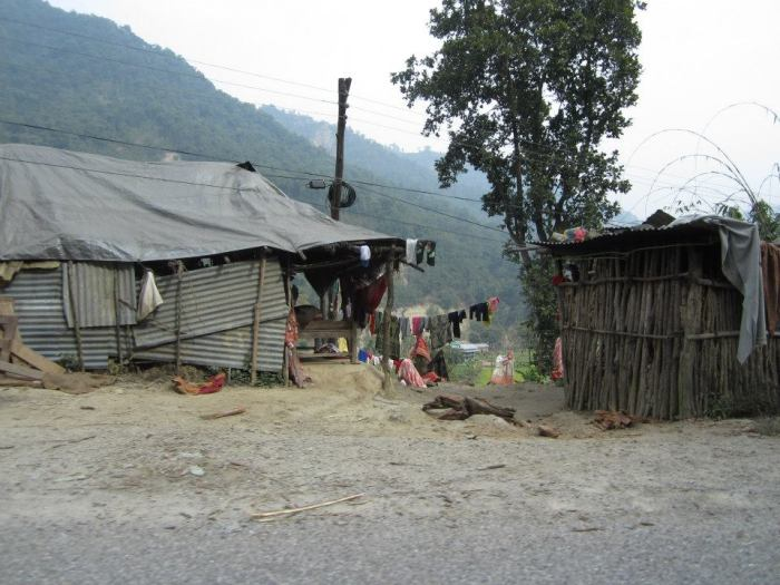 Homes along the road, between Chitwan and Pokhara, Nepal