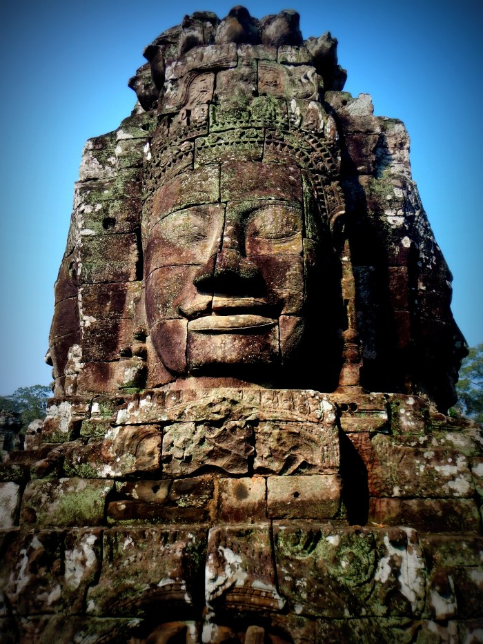 Bayon-- these faces cover the entire temple. Cambodia