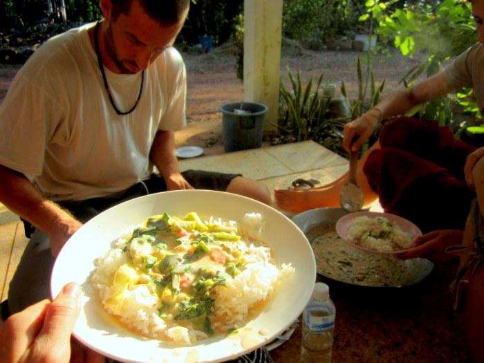 Dinner at the Mindfulness Project near Khon Kaen, Thailand