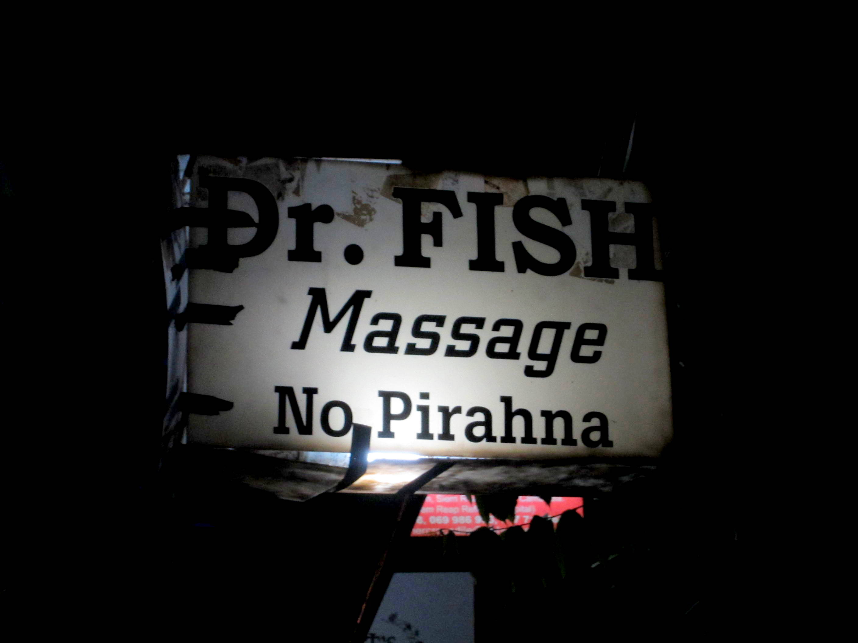 Don't worry, no piranhas in THIS massage. Siem Reap, Cambodia.