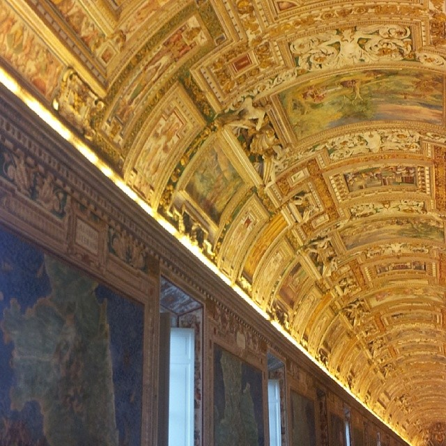 The Map Room in the Vatican. Rome, Italy