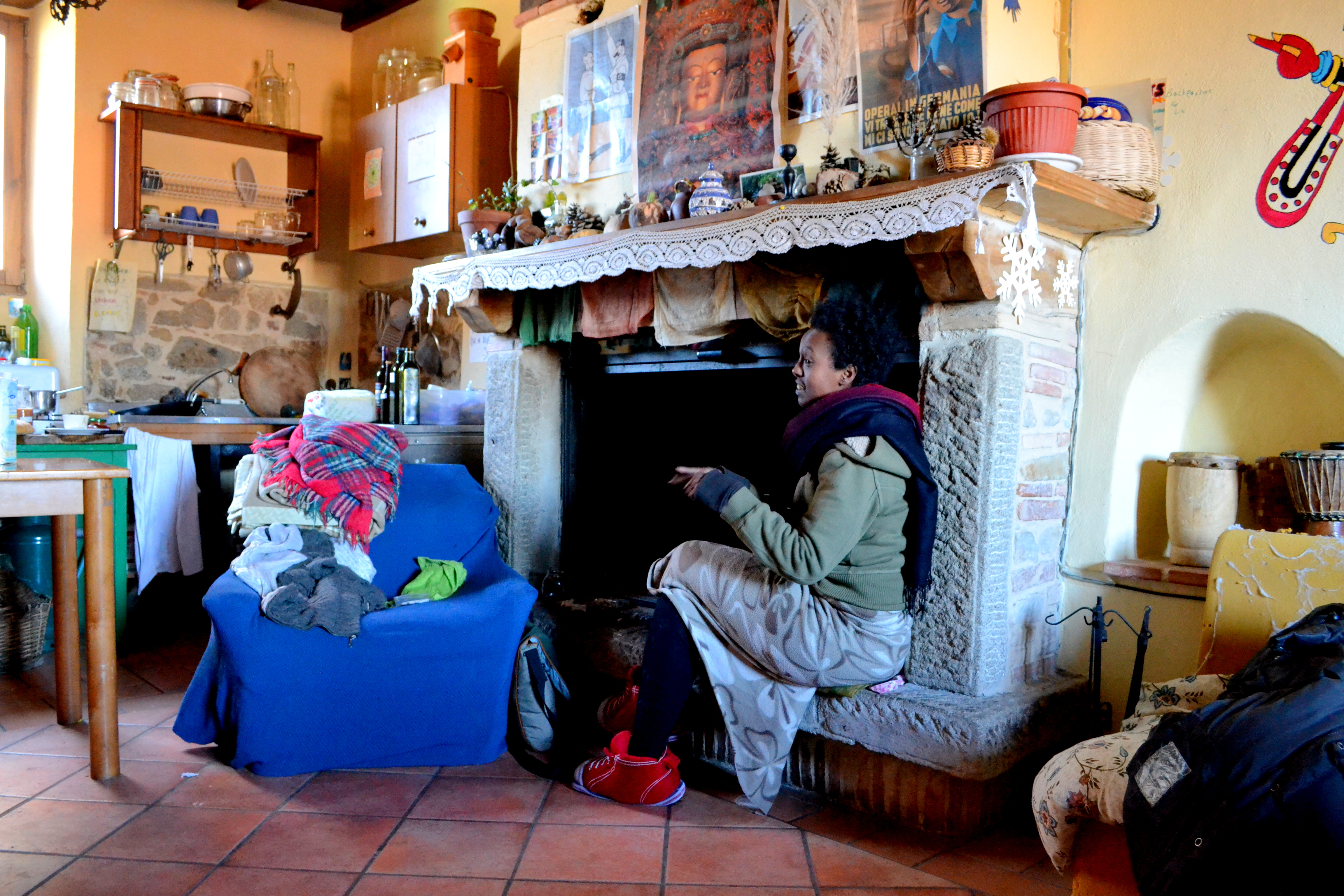 Life in the commune at Arcidosso, Italy