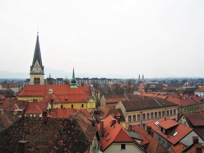 Overlooking Ljubljana, Slovenia