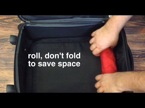 Travel Hacks - Roll, don't fold to save place
