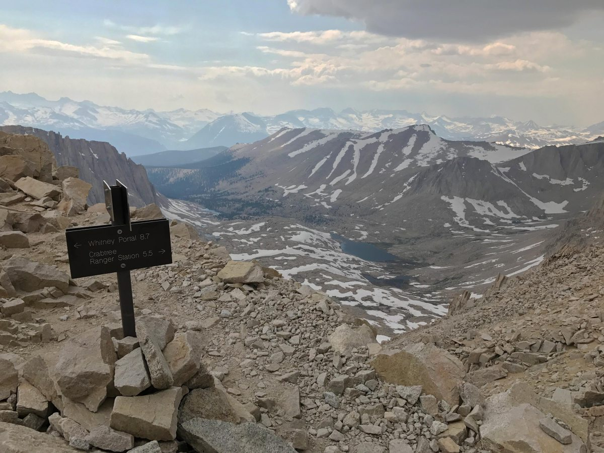 Coming down from the summit, this is the junction where the Whitney Trail Meets the John Muir Trail.