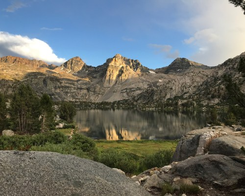 Sunset over Rae Lakes and the Painted Lady in the distance
