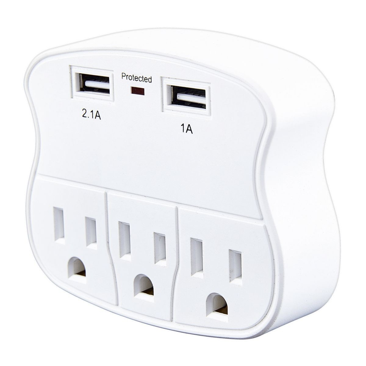 Armstrong 3 Outlet 2 Usb Rapid Charging Wall Adapter