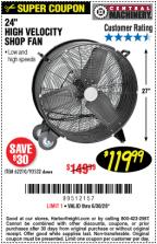 high velocity shop fan