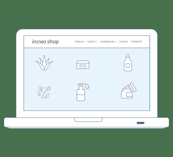 Avec incwo, vendez en ligne ! Votre catalogue produits se transforme en site marchand.