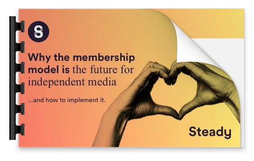 "Screenshot of the Whitepaper, titled ""Why the membership model is the future for independent media""."