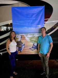 TruPlace's Rebecca Lombardo and Greg Manson at the Spirit of VR Roadshow