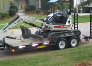 The construction equipment we offer includes equipment trailers for rent