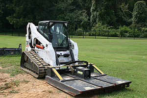 Skid Steer Brush Hog for cutting brush in tight places