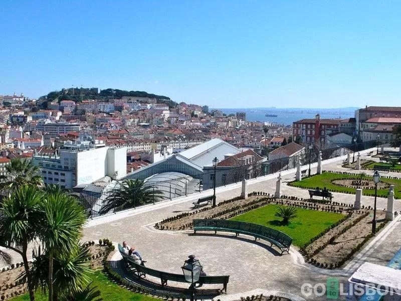 Miradouro de Sao Pedro de Alcantara Lisbon Portugal
