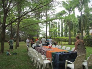 Welcome lunch in the garden