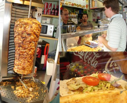 doner kebab in Vienna on lavash (Armenian flatbread)