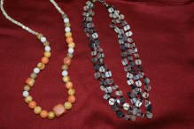 necklaces made by my mom and brother