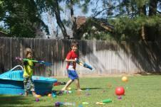 Water Balloon & Squirt Gun Fight