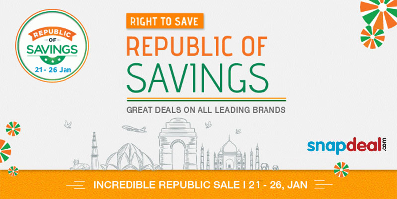 e6234026952 Snapdeal announces Republic Day edition of deals of India