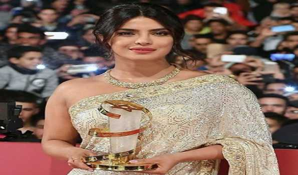 Desi girl Priyanka Chopra honoured at Marrakech Film Festival; see pics