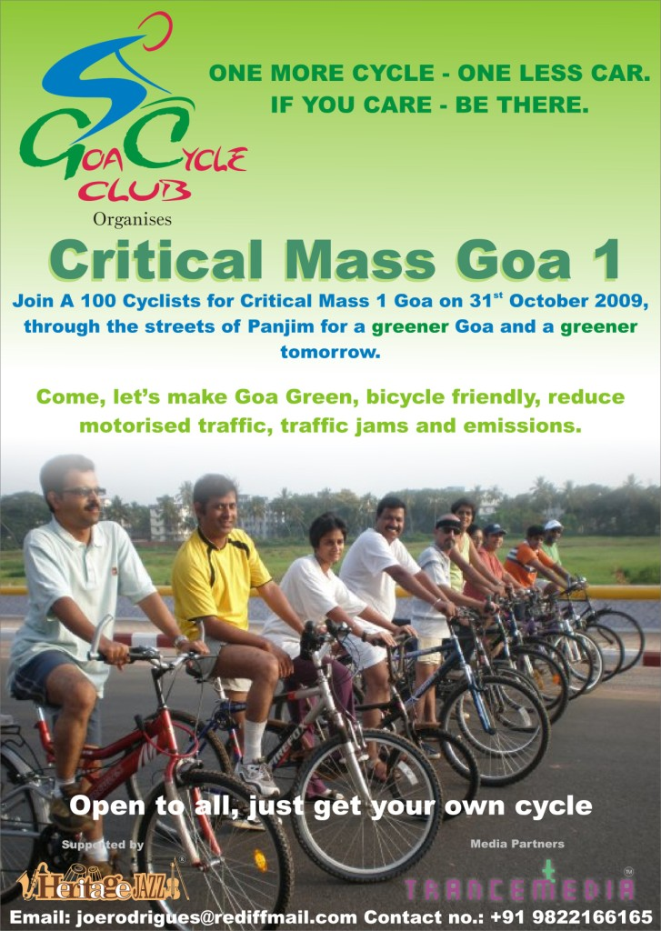 Goa cycle club Critical Mass 1 poster