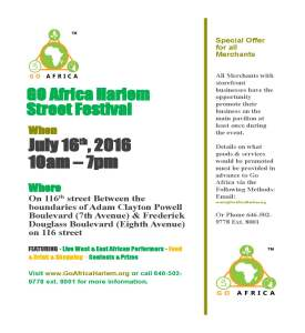 GO Africa Harlem Street Festival outside merchants 8-19-2016