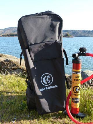 Backpack and slim barrel pump