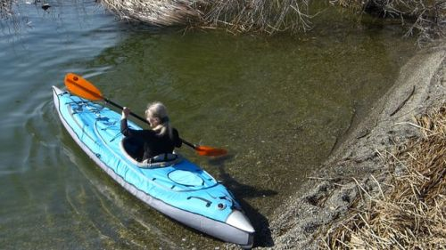 Paddling with single deck installed.
