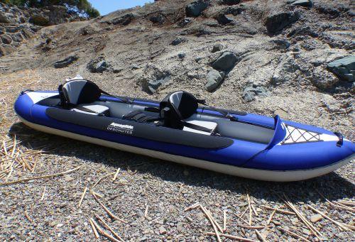 Deschutes Tandem inflatable kayak for 1-3 paddlers.